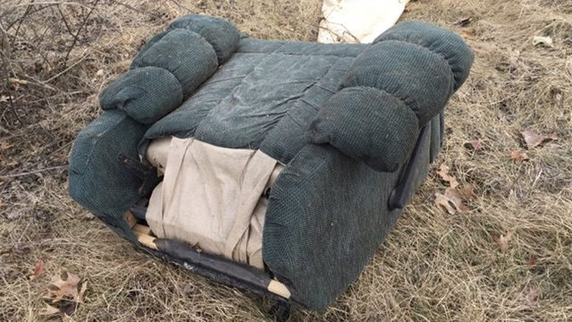 Sheriff investigates furniture dumped off on rural road