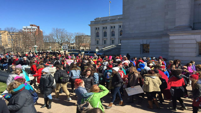 Hundreds gather at Capitol for 'Day Without Women' event