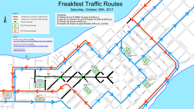 Freakfest to cause street closures downtown
