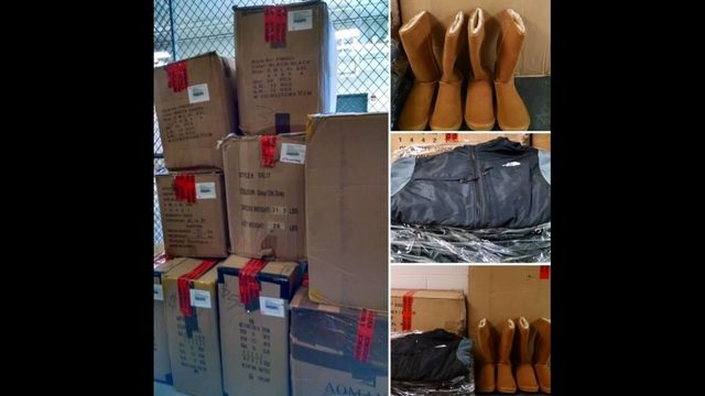 Police dept. donates confiscated fake UGGs, North Face jackets to Puerto Rico