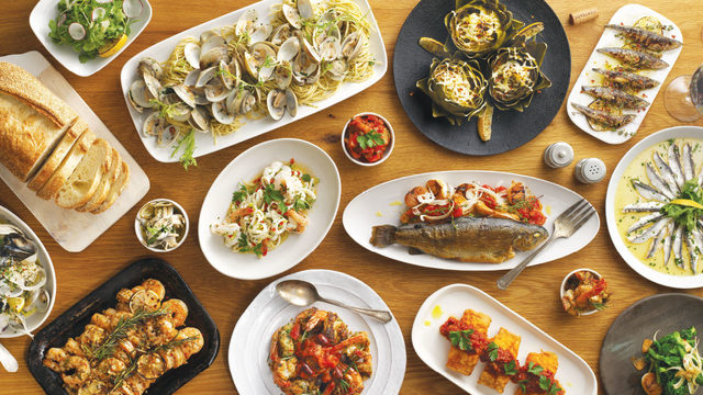 The Italian chefs' feast of the seven fishes