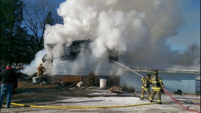 Home destroyed in Muscoda fire