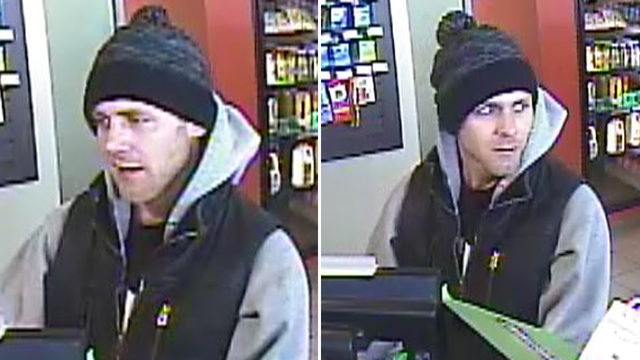 Police release surveillance images of gas station robbery