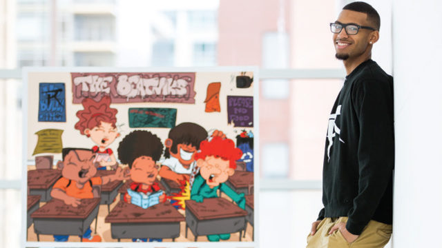 At just 21, Rodney Lambright II is already a successful cartoonist