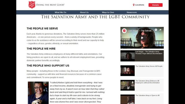 Salvation Army responds to claims about their history of discrimination toward LGBTQ community