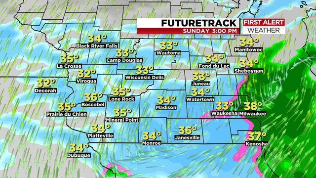 More wind-driven rain on the way, changing to snow Sunday as wild weather continues