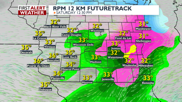 Light rain takes over, little if any wintry impacts