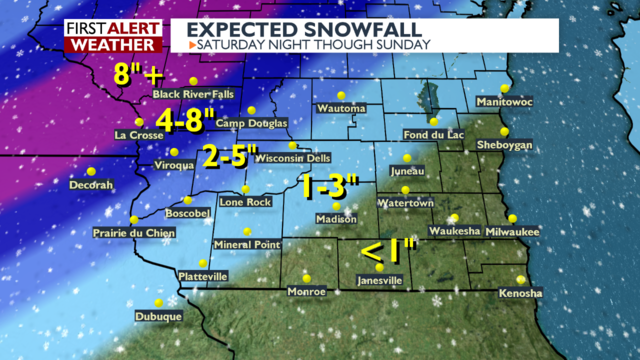 Large winter storm takes aim at Wisconsin this weekend