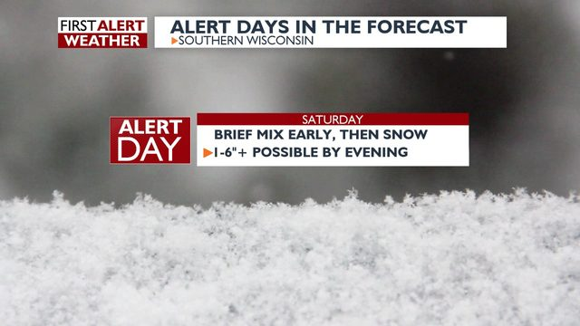 Winter Storm Warning: Up to 6 inches of snow possible in southern Wisconsin on Saturday