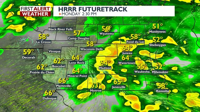 Stormy Memorial Day, shower chance for much of the week