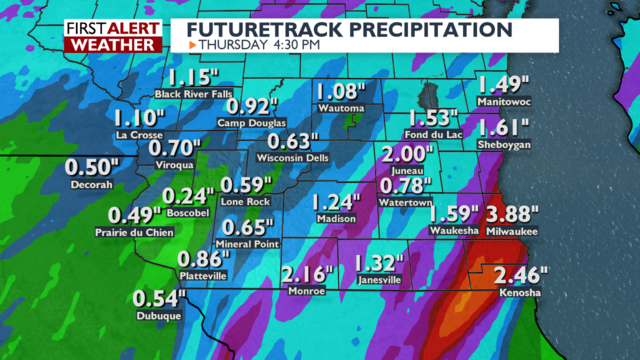 Heaviest rain still to come this evening for southern Wisconsin