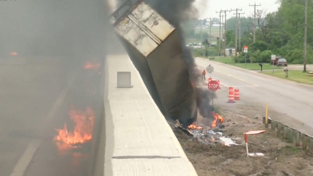 NEW VIDEO: Video shows moment semi exploded on Interstate in Racine County