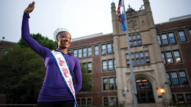 Miss Black Wisconsin TeKema Balentine uses her pageant platform to inspire students of color