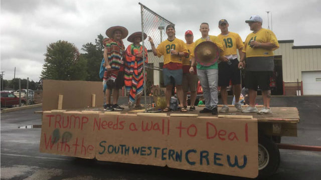 Blanchardville community argues whether border wall parade float was racist or a joke
