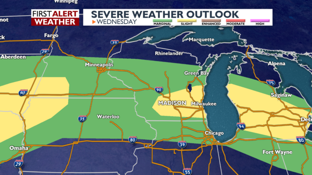 Strong thunderstorms possible through Thursday