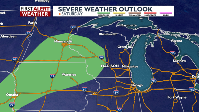 Heavy thunderstorms might lead to flooding Saturday night