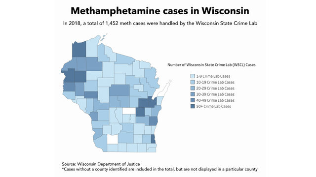 While millions are spent to fight the opioid epidemic, a meth crisis quietly grows in Wisconsin