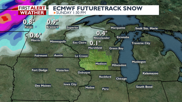 First snowflakes possible this weekend in northern Wisconsin