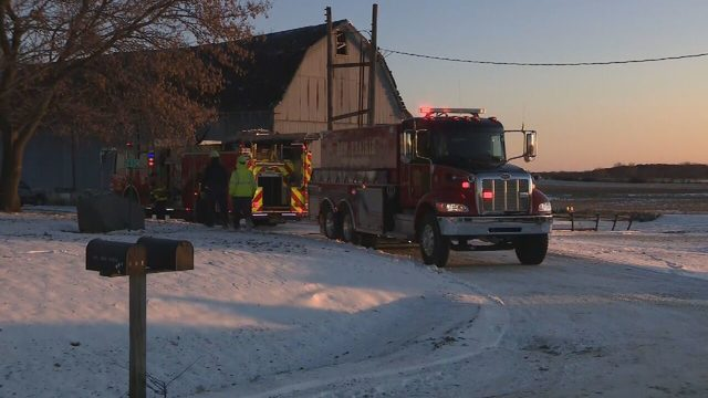 Several crews respond to house fire in single-digit temperatures