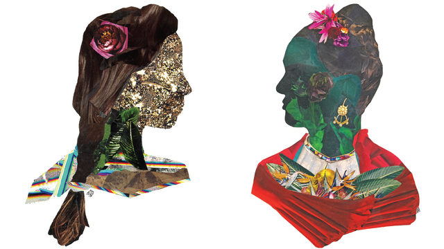 Portrait and silhouette artist uses collage to capture her subjects' multiform meanings
