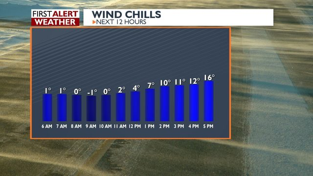 Alert day for continued cold temperatures -Haddie