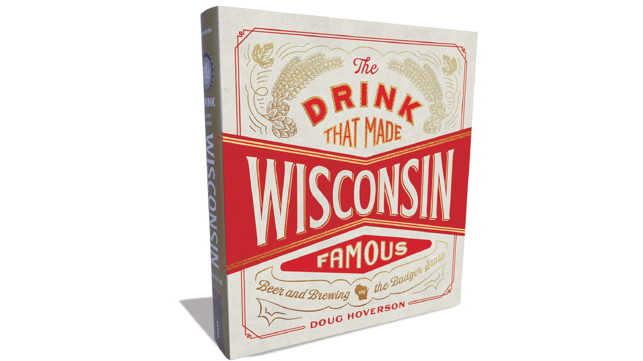 """Large book called """"The Drink that Made Wisconsin Famous"""""""