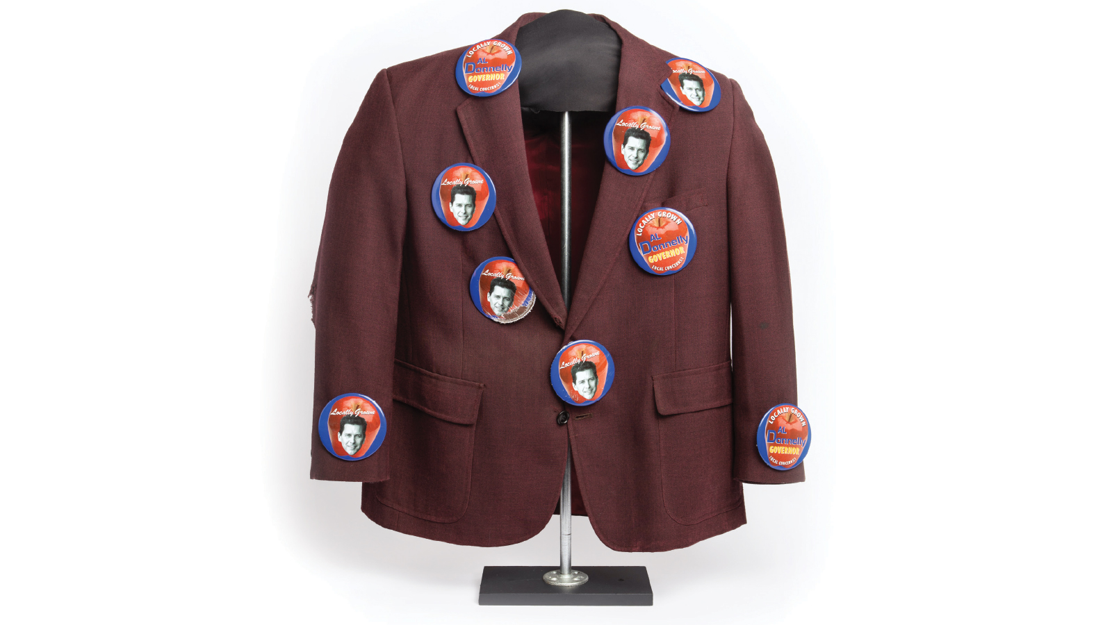 Chris Farley's jacket covered in buttons