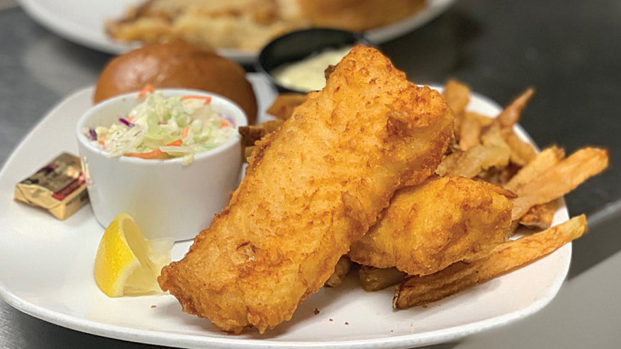 fish fry from Off Broadway Drafthouse