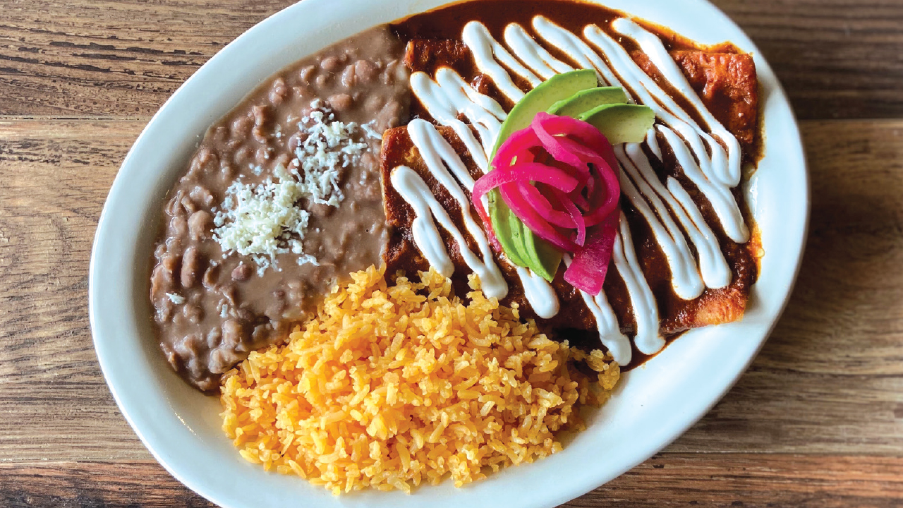 Plate of food from Tapatios