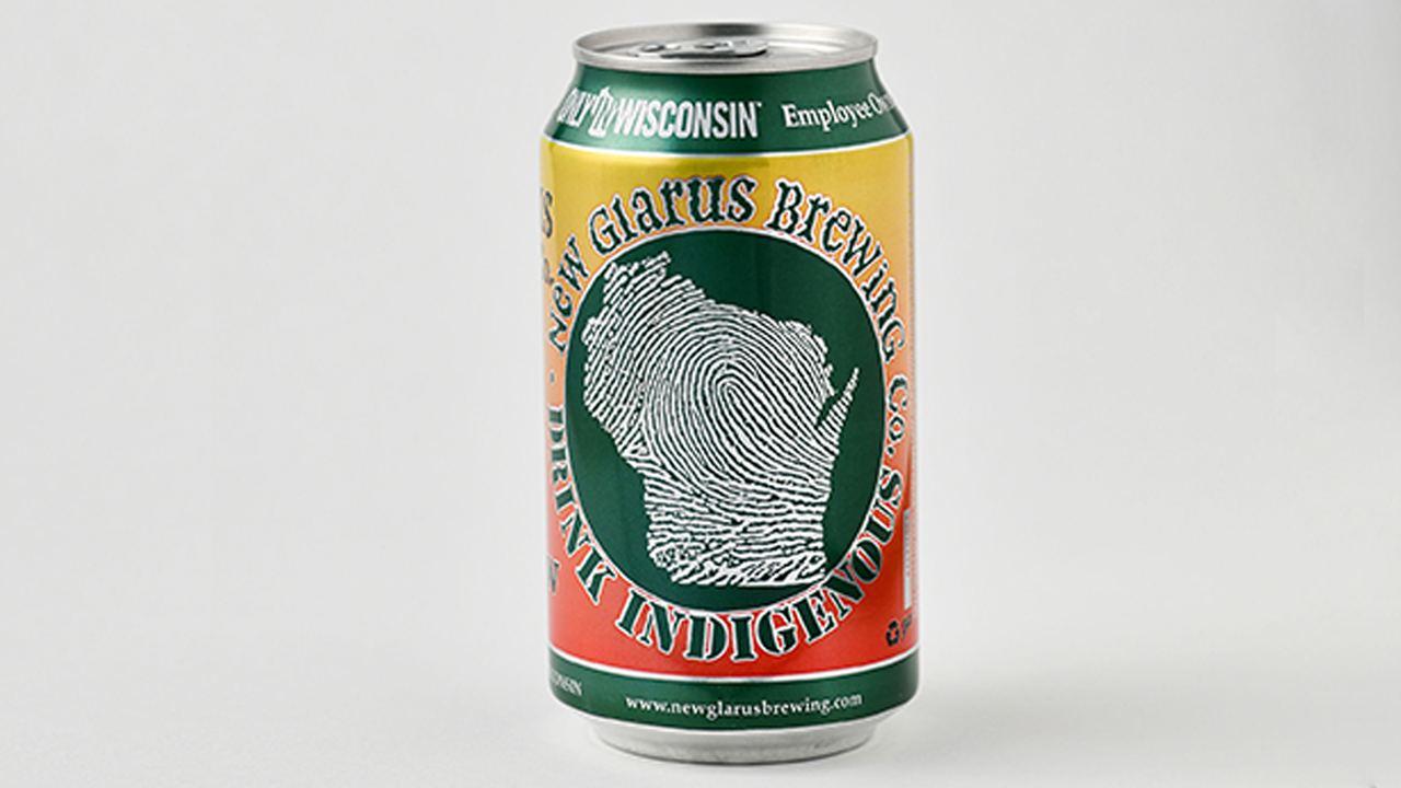can of new glarus beer