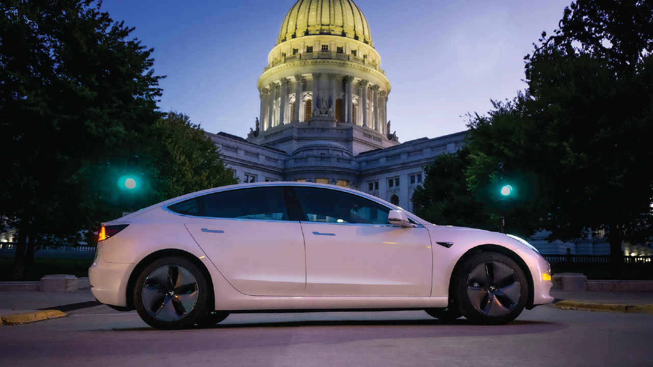 Zerology car in front of state capitol