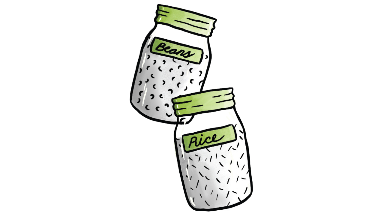 two ball jars used for bulk items
