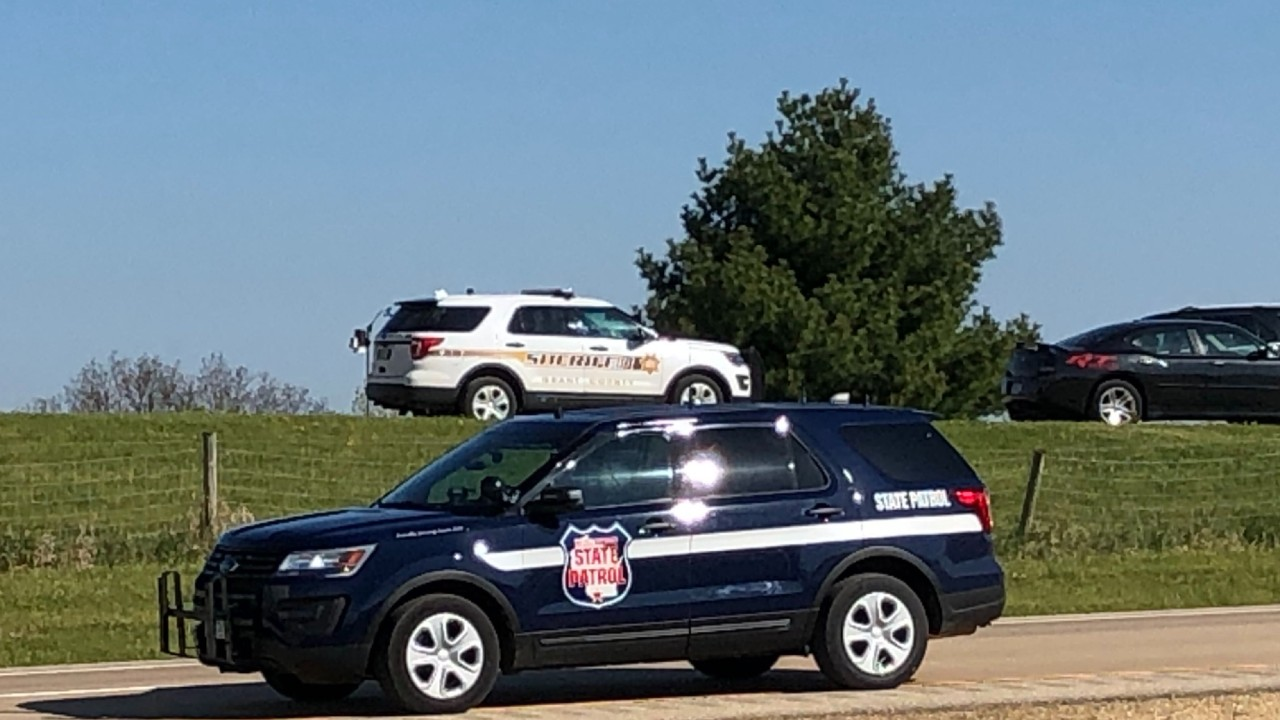 Wisconsin State Patrol vehicle at scene
