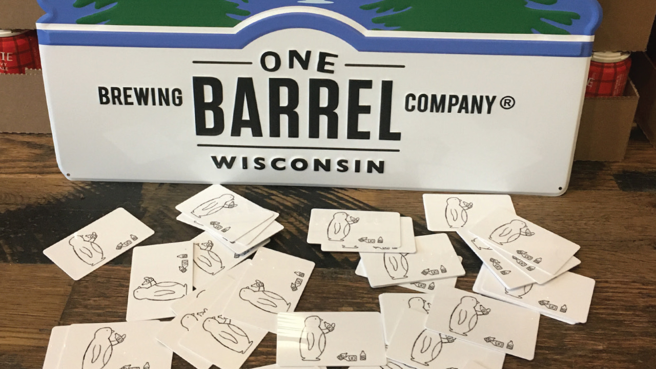 Gift cards from One Barrel Brewing Co.