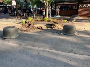 Planters overturned during unrest on May 30