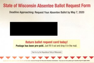 WCIJ- A postcard including Instructions for requesting an absentee