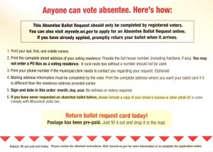 WCIJ- A postcard with instructions for absentee ballot