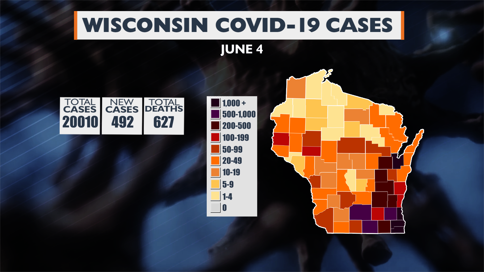 6 04 20 Update Wi Covid 19 Cases Map