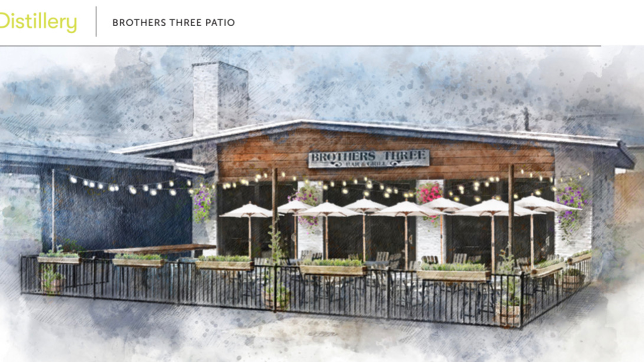 Rendering of Brothers 3 patio
