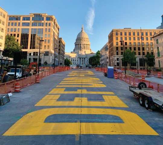 Defund Police painted to the Capitol