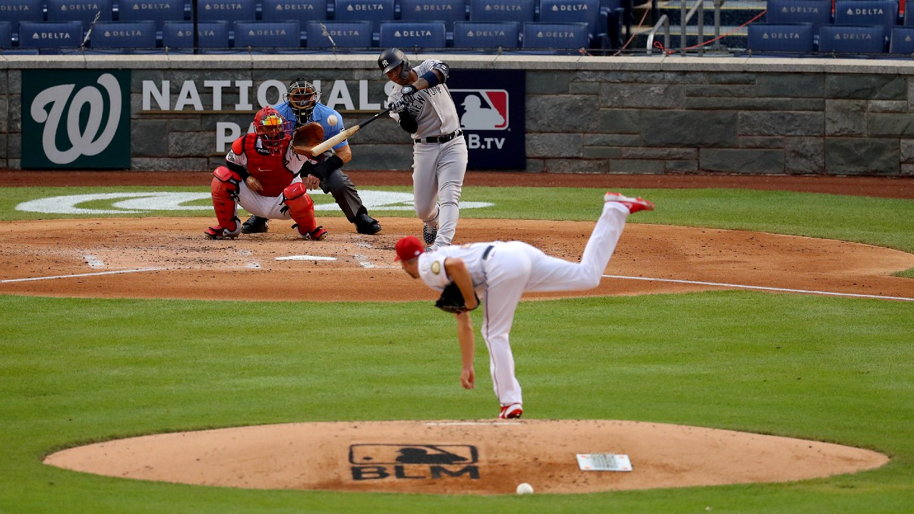 Gleyber Torres Of The New York Yankees Bats During The Game Between The Yankees And The Washington Nationals At Nationals Park On Thursday Viacnn 1280