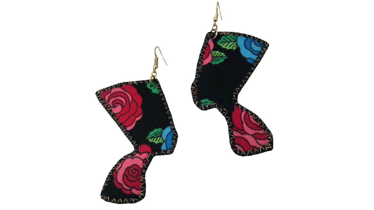 two pairs of Nefertiti earrings
