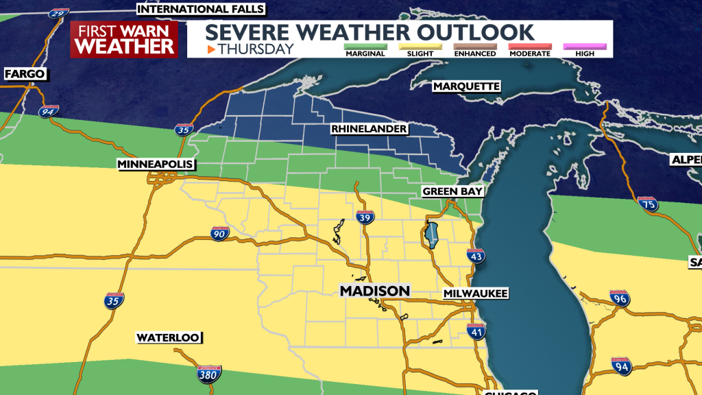 Thur. Severe Weather Outlook