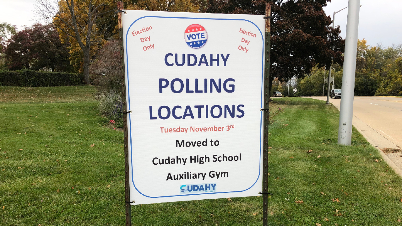 Cudahy Polling Locations Sign (1)