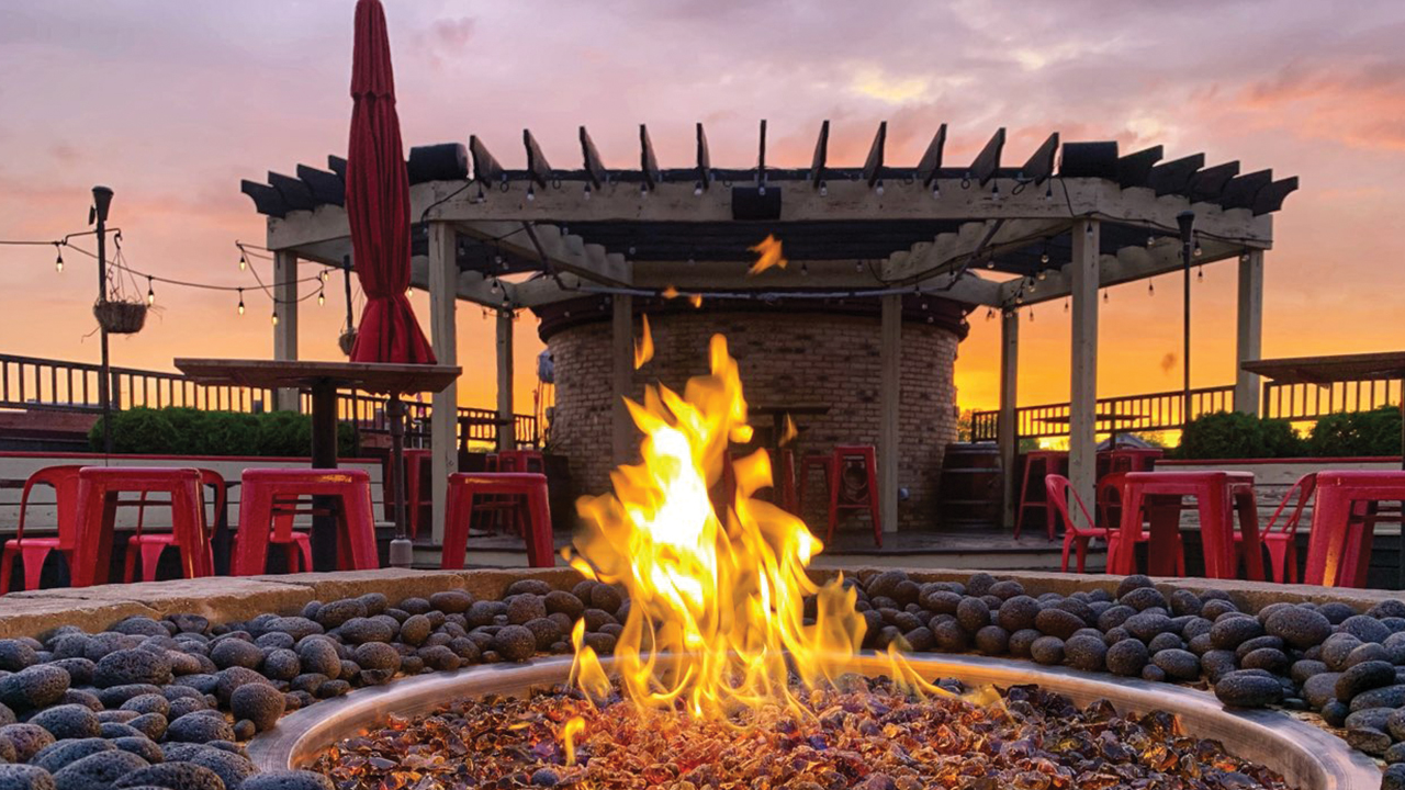 Fire Pit at Lone Girl Brewing Co.