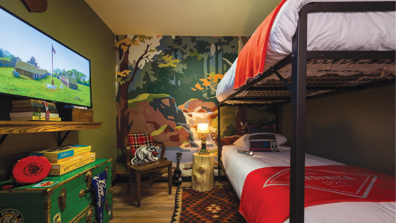 bunk beds in the Camp Wandawega Suite