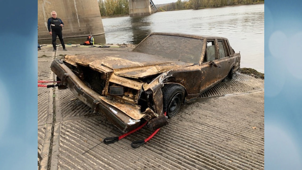 Stolen car pulled from river after 14 years