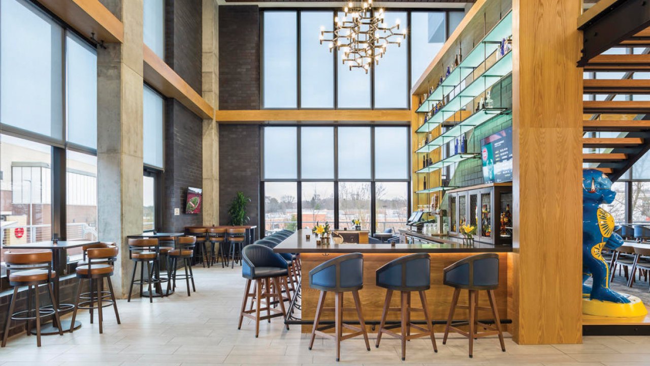 lobby of SpringHill Suites by Marriott Madison