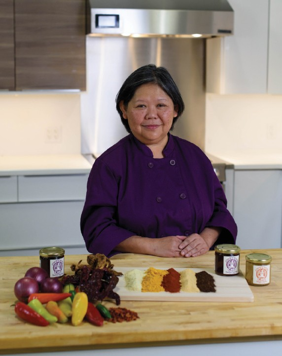 Josey Chu with her sauces