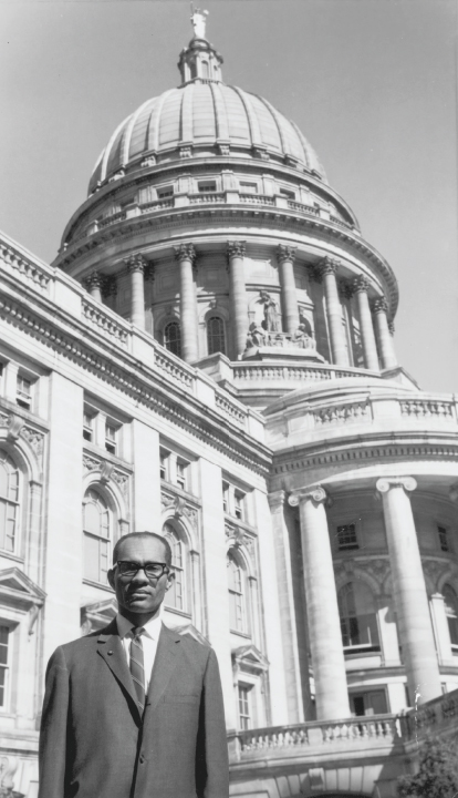Lloyd barbee in front of the capitol